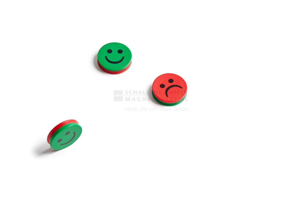 Smiley, Wendemagnet, D: 25 mm